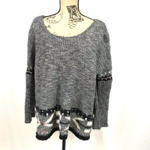 Free People Oversized Sweater Scoop Neck
